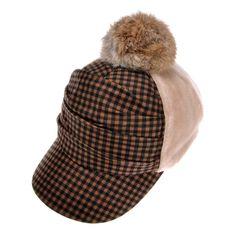 21.99$  Buy now - http://vinjc.justgood.pw/vig/item.php?t=6k101kd33982 - Craze Two Tone Plaid Print Warm Lint Ribbit Fur Ornament Baseball Hat Cap