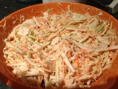 Slimming world coleslaw - Syn free White cabbage - shredded Onions - thinly sliced Carrots - grated Mixed herbs Salt and pepper Fat free fromage frais Add all ingredients together in a bowl. Mix thoroughly and season to taste. Delicious and Syn free!!!