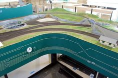 Custom Model Railroads specializes in the design and manufacture of model railroad layouts, model railroad structures and kits. N Scale Trains, Ho Trains, Model Trains, Norfolk Southern, Model Train Layouts, Ho Scale, Scale Models, Airports, Planes