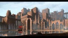 Desert port city by RaVirr17