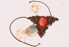 Magic Firehandmade micro macrame necklace by BohemaNights on Etsy