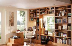 37 Trendy home library office bookshelves built ins Bookshelves Built In, Built Ins, Bookcases, Desk Shelves, Home Office Design, House Design, Home Office Furniture Uk, Trendy Home, Home Interior