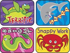 TREND's Sea Life Applause reward stickers contain motivating messages and vibrant designs that make it easy to inspire children of all ages Acid-free, non-toxic, and safe for use on photos.
