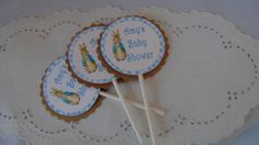 Peter #Rabbit Cupcake #Toppers with #Personalized Tags- Order of (12) Beatrix  Po,  View more on the LINK: http://www.zeppy.io/product/gb/3/198180052/