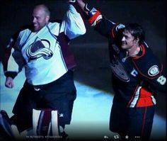 Teemu and JS Giguere (04-13-14)