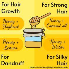 Natural Face Cleanser, Diy Hair Treatment, Hair Dandruff, Hair Massage, Honey Benefits, Long Hair Tips, Hair Pack, Hair Issues, Honey Face