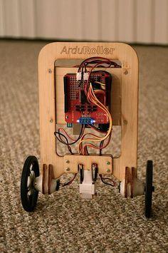 Make a sweet self balancing robot with Arduino brain! Code included https://github.com/fasaxc/ArduRoller