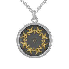 Necklace Round Pendant Necklace