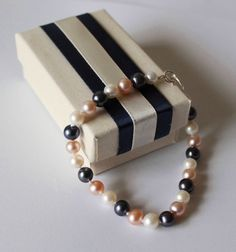 Fresh water pearl bracelet Multiple colorsSterling by Pearlland88, $26.00