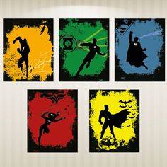 Set of 5, Justice League Superhero Posters, Multiple sizes available. on Etsy, $45.13 CAD