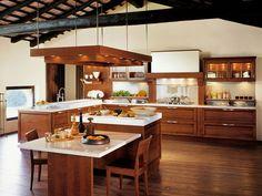 Cocina integral de cerezo CERTOSA by Snaidero diseño SNAIDERO DESIGN