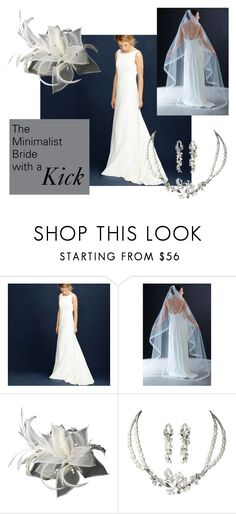 """The Minimalist Bride with a Kick"" by distveils on Polyvore featuring J.Crew and modern"