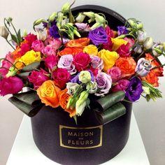 Maison des fleurs on pinterest flower arrangements flowers in a box and pi - Idee bouquet de fleur ...