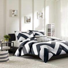 Teal Blue White & Grey Chevron Duvet Cover Bedding Set AND Decorative Pillow (Libra-Blue-duv) Black Comforter, Blue Comforter Sets, White Bedding, Duvet Sets, Duvet Cover Sets, Twin Comforter, Teen Bedding, King Duvet, Bedroom Decor