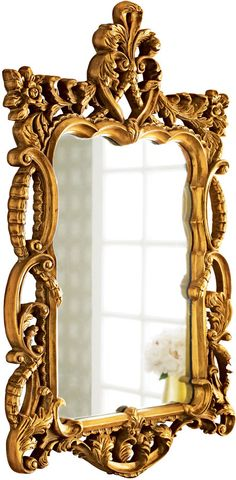"Shop ""Gold Antoinette"" Mirror at Horchow, where you'll find new lower shipping on hundreds of home furnishings and gifts. Home Decor Accessories, Decorative Accessories, Hall Mirrors, Mirror Mirror, Beautiful Mirrors, Interior Garden, Home Living, Living Room, Old Antiques"