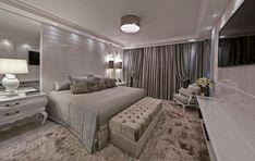 Likes, 25 Comments – Decor, Interiores & Dicas (Maria Simões) on Inst… - Vida de Luxúria Home Bedroom, Master Bedroom, Bedroom Decor, Bedrooms, Home Interior, Interior Design, Style At Home, Casa Clean, Suites