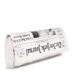 "Kate Spade ""journal newspaper clutch."""