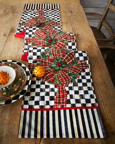 BOWS & BOUGHS TABLE RUNNER by MacKenzie-Childs at Horchow.#HORCHOWHOLIDAY14