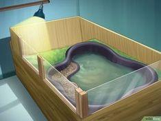 How to Build an Indoor Aquatic Turtle Pond: 13 Steps Aquatic Turtle Habitat, Aquatic Turtle Tank, Turtle Aquarium, Aquatic Turtles, Turtle Pond, Turtle Tanks, Turtle Tub, Turtle Tank Setup, Aquarium Stand