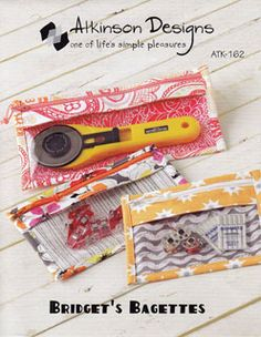 handy zippered clear-front pouch pattern