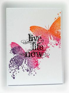 Visible Image - Butterfly INKognito - Live Life Now - Susanne Rose