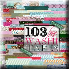103 Washi Tapes... Different colored and designs by Sweetly Scrapped