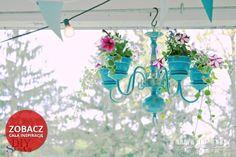 Żyrandol z kwiatami - kliknij i zobacz jak zrobić