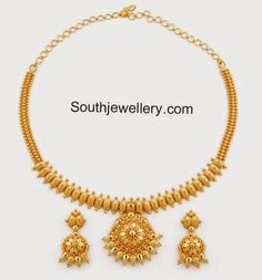 plain gold necklace 35gm
