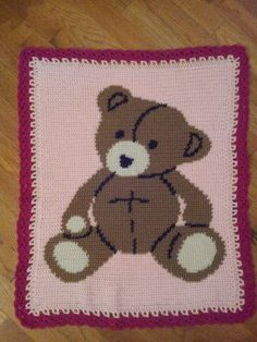 Free Teddy Bear Crochet Afghan Pattern : 1000+ images about Teddy Bear Afghan on Pinterest Teddy ...