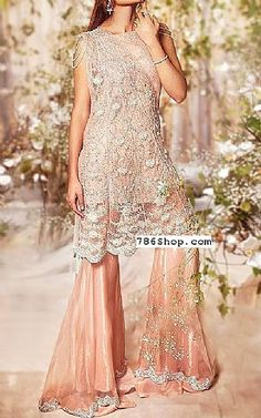 Peach Crinkle Chiffon Suit   Buy Pakistani Fashion Dresses and Clothing Online in USA, UK Pakistani Wedding Dresses Online, Pakistani Dresses Online Shopping, Pakistani Bridal, Online Dress Shopping, Designer Party Dresses, Indian Designer Outfits, Pakistani Designers, Bridal Outfits, Ladies Dress Design