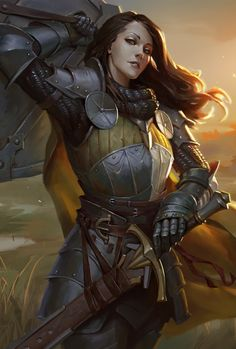 Fantasy Female Warrior, Female Armor, Female Knight, Warrior Girl, Fantasy Rpg, Fantasy Artwork, Warrior Princess, Warrior Women, Dungeons And Dragons Characters