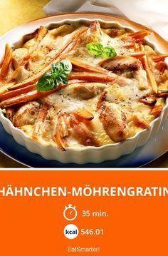 Hähnchen-Möhrengratin - smarter - Kalorien: 546.01 kcal - Zeit: 35 Min.   eatsmarter.de