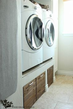 A Brilliant Way To Hide Laundry Room Clutter