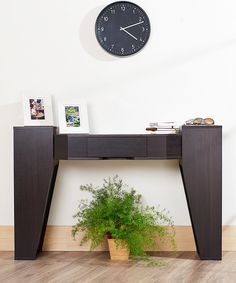 Look what I found on #zulily! Espresso Adela Modern Console Table by Furniture of America #zulilyfinds