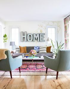 Paint-Pen Murals and Stenciled Designs Fill This Home with a Riot of Color