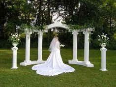 gorgeous wedding columns just reserved this for the wedding April Wedding, Wedding Pics, Wedding Ceremony, Wedding Ideas, Wedding Church, Garden Wedding, Reception, Wedding Columns, Grecian Wedding