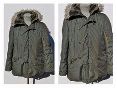 vintage parka winter coat N3B military jacket vintage jacket; Manly mod