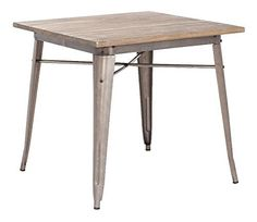 Midcentury Modern Zuo Modern Titus Dining Table, Rustic Wood