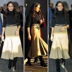 She gave a nod to her new home with her skirt, which was by British brand Joseph