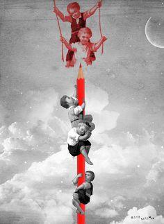 """""""Los días contados"""" 25/04/2015 by Maria Salomon  #collage #mariasalomon #bysalomon #losdiascontados"""