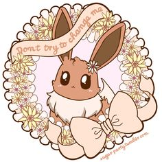 """Don't Try to Change Me"" Bunny, wreath, bow. ❤ Blippo.com Kawaii Shop ❤"