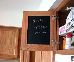Paint the inside of your cabinets with chalkboard paint. That way anyone can put away dishes. List what goes in the cabinet.