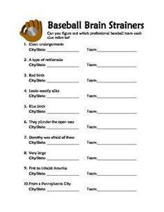 football brain strainers Baseball Word Search from PrintableTreats.com | Baseball Printables ...