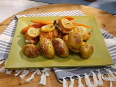 Sunny's Roasted Rosemary and Thyme Chicken, Carrots and Potatoes recipe from Sunny Anderson via Food Network