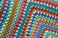 Priscillas: Giant granny square blanket progress