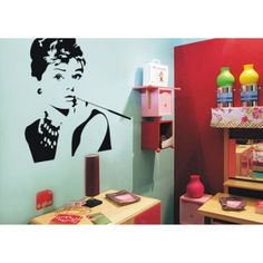 Just US$6.94, buy Fashion PVC Wall Sticker Bathroom Sticker Home Decor with Hepburn Pattern online shopping at GearBest.com Mobile.