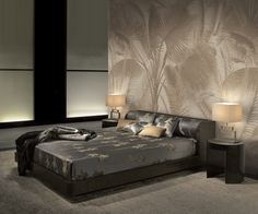 Luxury wallpaper - Aida by Armani/Casa, available exclusively at NewWall.com.
