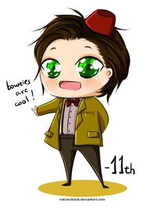 """joanacchi: """"That is what I have so far of Doctor Who! I am working really hard to finish my uni assignments so I can go back doodling and drawing D; Hope you guys are all ok! 11th Doctor, Doctor Who, Battlestar Galactica, Stargate, Sherlock, Star Trek, Supernatural, Chibi, Fangirl"""