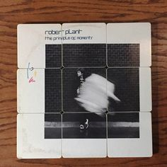 ROBERT PLANT recycled Principal of Moments album cover coasters with record bowl