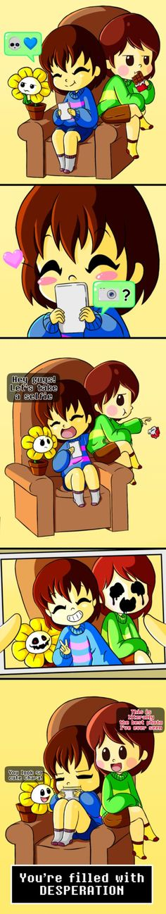 frisk, chara, flowey - stay desperated by watermelonium on DeviantArt